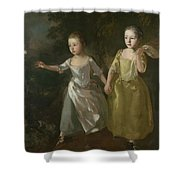 The Painter's Daughters Chasing A Butterfly Shower Curtain