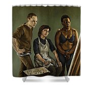 The Painting Shower Curtain
