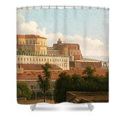 The Palazzo Reale And The Harbor. Naples Shower Curtain