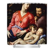 The Panciatichi Holy Family Shower Curtain