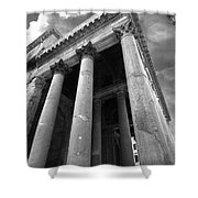 The Pantheon In Rome Bw Shower Curtain
