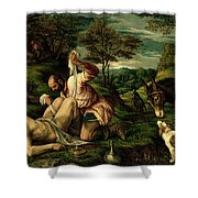 The Parable Of The Good Samaritan Shower Curtain