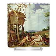 The Parable Of The Wheat And The Tares Shower Curtain