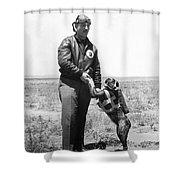 The Parachute Pup Shower Curtain