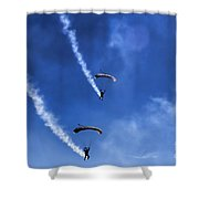 The Parachutists V5 Shower Curtain