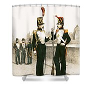 The Parisian Municipale Guard, Formed 29th July 1830 Coloured Engraving Shower Curtain