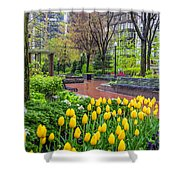 The Park At Post Office Square Shower Curtain