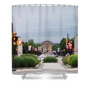 The Parkway And Art Museum Shower Curtain