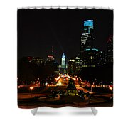 The Parkway At Night Shower Curtain