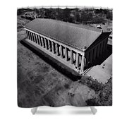 The Parthenon In Black And White Shower Curtain by Dan Sproul