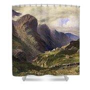 The Pass Of Glencoe, 1852 Shower Curtain by William Bennett