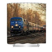 The Passing Siding Shower Curtain