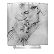 Passion Of The Kiss Shower Curtain