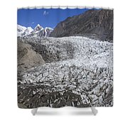 The Passu Glacier And Mountains Shower Curtain