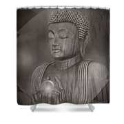 The Path Of Peace Shower Curtain by Sharon Mau