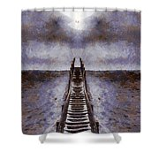 The Path To Heaven Shower Curtain by Dan Sproul