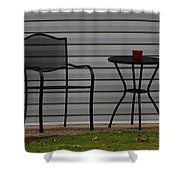 The Patio In Living Color Shower Curtain