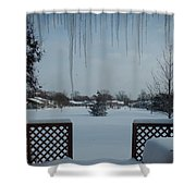 The Patio In Winter Shower Curtain