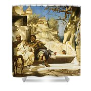 The Patrician's Siesta Shower Curtain