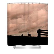 Nature The Peace Of Dusk Shower Curtain