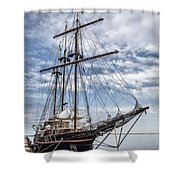 The Peacemaker Tall Ship Shower Curtain by Dale Kincaid