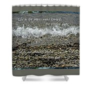 The Pebbled Shore 2 Shower Curtain