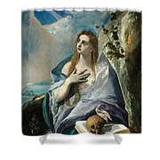 The Penitent Mary Magdalene Shower Curtain