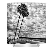 The People Are The City Palm Springs City Hall Shower Curtain