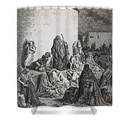 The People Mourning Over The Ruins Of Jerusalem Shower Curtain