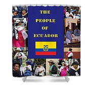 The People Of Ecuador Collage Shower Curtain