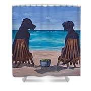The Perfect Beach Day Shower Curtain