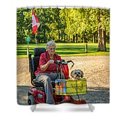 The Perfect Hood Ornament Shower Curtain