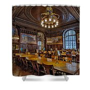 The Periodical Room At The New York Public Library Shower Curtain by Susan Candelario