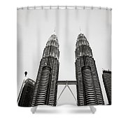 The Petronas Towers Malaysia Shower Curtain