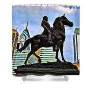 The Philadelphia General Shower Curtain