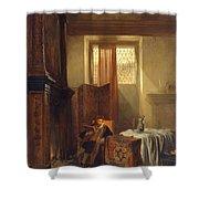 The Philosopher Shower Curtain