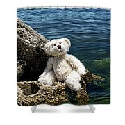 The Philosopher - Teddy Bear Art By William Patrick And Sharon Cummings Shower Curtain