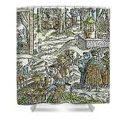 The Physic Garden, 1531 Shower Curtain