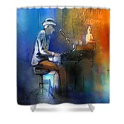 The Pianist 01 Shower Curtain