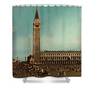 The Piazza San Marco Venice Shower Curtain