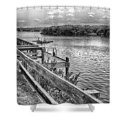 The Pier At Channel 4 Shower Curtain