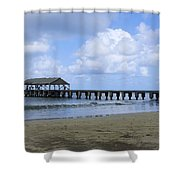 The Pier At Hanalei Shower Curtain