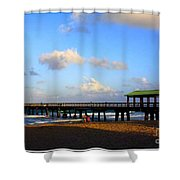 The Pier At Lauderdale By The Sea Shower Curtain