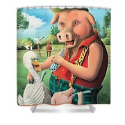 The Pig & Whistle Shower Curtain