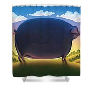 The Pig Shower Curtain