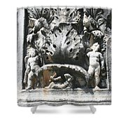 The Pilaster Friezes Of The Palaestra Shower Curtain