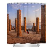 The Pillars Of The Earth Shower Curtain