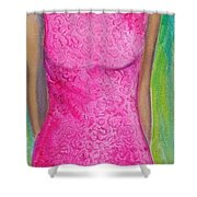 The Pink Dress Shower Curtain