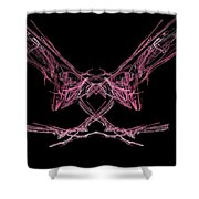 The Pink Falcon Shower Curtain