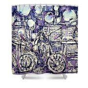 the PINK FLOYD in concert - drawing portrait Shower Curtain